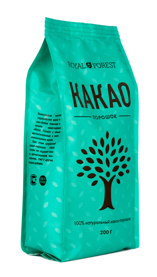 Какао-порошок, Royal Forest, 200 г