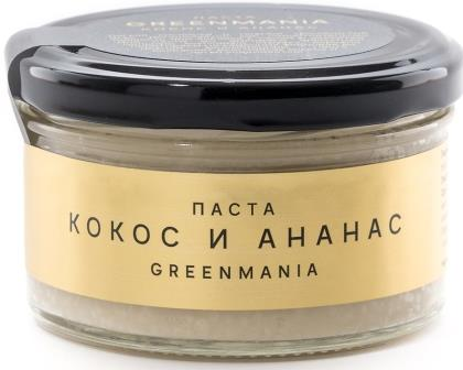 Паста  Кокос и Ананас, GreenMania, 150 г